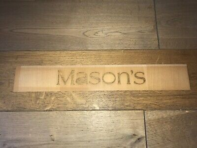 Masons Signage Sign Shop Display Plaque Wood Glass Rare To Find • 18£