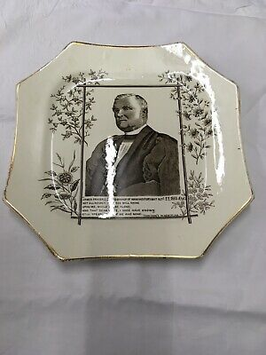 Commemerative Plate Issued In 1885: James Fraser, Lord Bishop Of Manchester • 5£