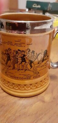 Vintage Elijah Cotton Lord Nelson Ware Widecombe Fair Tankard (See Description) • 3£