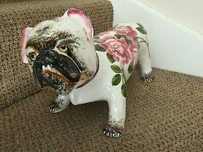 Wemyss Dog Very Rare Piece With Cabbage Rose • 950£