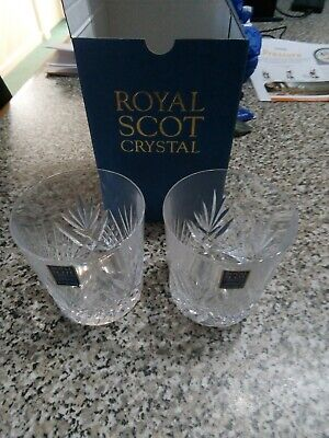 2 Royal Scot Crystal Glasses With Box, Unused • 5£
