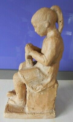 Bing & Grondhal Sculpture Of Girl Sitting ByTherese Lucheschita. Limited Edition • 145£