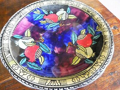 Early Rubens Ware By Hancock & Sons Pomegranate Pattern Rouleau Plate Signed 9  • 38£