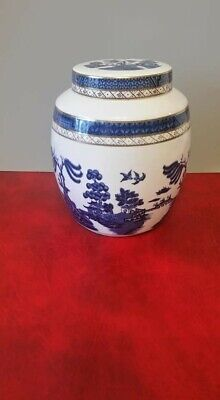 Booths Royal Doulton Real Old Willow TC1126 Ginger Jar 1981 • 6.75£