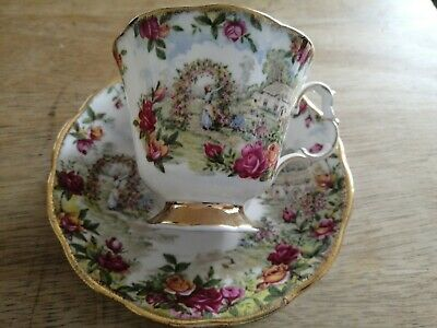 Rare Royal Albert A Celebration Of The Old Country Roses Garden Cup And Saucer. • 10£