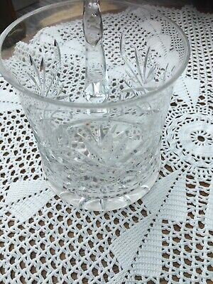 Cut Glass Etched Crystal Pint Beer Mugs Tankard Rose Design 5  Star Base • 1.50£