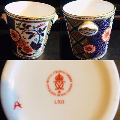 Sweet Royal Crown Derby Small Decorative Twin Handled Brush Pot • 10£