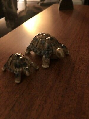English Vintage Wade Pottery Ceramic Tortoise Turtle Mother & Baby • 3£