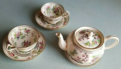 Aynsley Tea For Two Teapot  2 X Cup Saucer Plate Vintage Bone China England  • 29.99£
