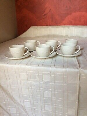 12 Pc Royal Stafford House Of Fraser Sherwood Embossed Acorns Cups & Saucers • 16.50£