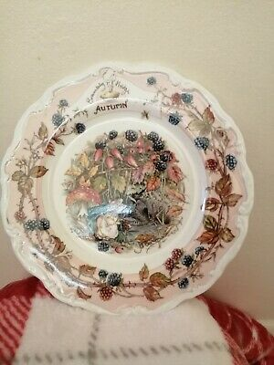Brambly Hedge Plate Autumn (Medium) • 2.20£