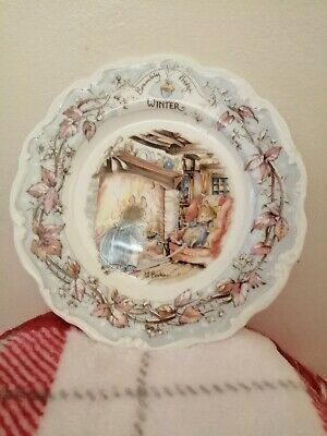 Brambly Hedge Plate Winter (Medium) • 2.20£