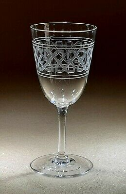 Late Victorian/edwardian Wine Glass Possibly By Molineaux And Webb • 14.99£