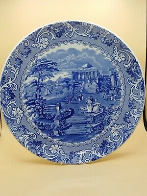 Blue And White Cauldon Charger • 8£