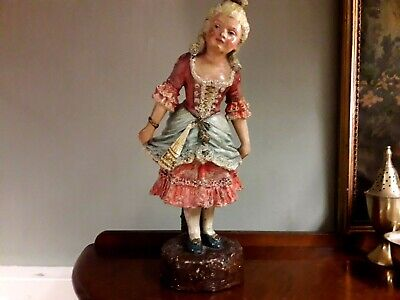 Victorian Figurine Of Young Girl. Victorian Pottery. • 19.99£
