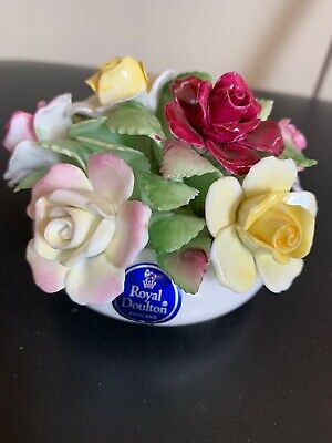 Royal Doulton England Bone China Porcelain Bowl Of Roses Flowers Rose Ornament • 3.90£