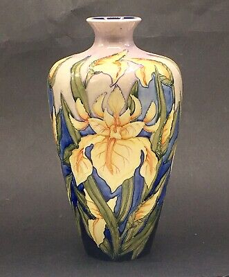 Moorcroft Windrush Yellow Iris Very Large 12  Vase Debbie Hancock C2000 • 295£