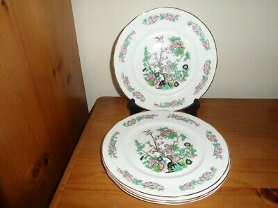 Vintage Fenton English Bone China Old Indian Tree Pattern Dinner Plates X4 • 5.50£