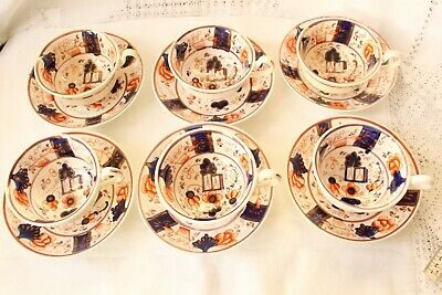 Beautiful Gaudy Welsh 'Buckle' Pattern Teaset In Excellent Condition • 100£