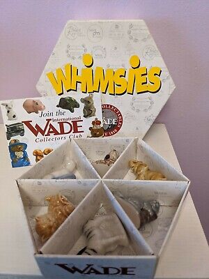 WADE Whimsies 2001-2002 6 Animals Boxed Set OF 6 Colourway Whimsies *new* • 10.99£