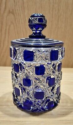Antique Baccarat Glass Lidded Pot From A Dressing Table Set C1900 • 75£