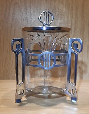 Art Nouveau Silver Plated Wmf Biscuit Barrell • 225£