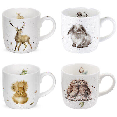 Royal Worcester - Wrendale Designs Mugs, Gift Boxed Set Of 4 • 24.95£