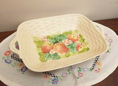 Vintage Royal Winton Embossed Fruits Woven Basket C1940's  • 18£