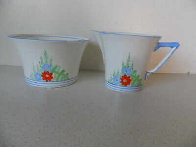 Art Deco C.w.s. Windsor China  Bowl And  Jug Hand Painted 1597/43 • 14£