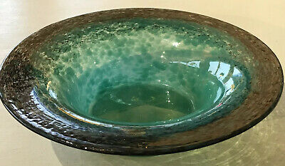 Vintage Antique Scottish Moncrieff Monart Glass Bowl • 45£