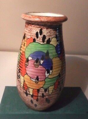 Crown Ducal Ware Hand Painted Colourful Art Deco  Vase   1920/30's • 28£