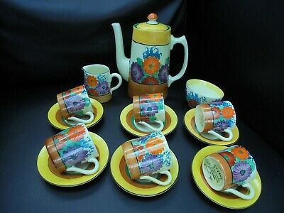 A Clarice Cliff GAYDAY Coffee Set • 1,350£