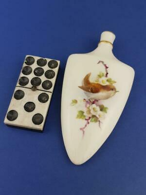 Rare Royal Worcester Miniature Lay Down Perfume, Scent Bottle Birds • 250£