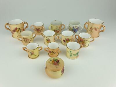 Royal Worcester Group Miniature Tygs, Loving Cups, Tankards Etc 19thC • 175£