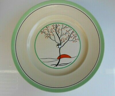 Vintage Art Deco Burleigh Ware Hand Painted Cake Serving Plate Stand   8  3/4  D • 12£