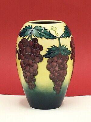 Moorcroft 18.5cm Vase Decorated With Grapevines C1996 • 145£