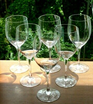Set X6 Fine Plain Riedel Crystal Wine Glasses.6 3/8  Tall.200ml.Etched Marks • 4.99£