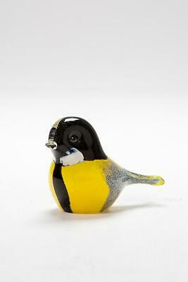 Langham Glass Handmade Crystal Great Tit New Boxed Factory Grade • 32.95£