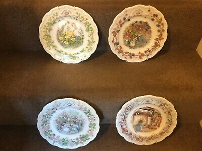 Royal Doulton Tea Plates - Brambly Hedge  Summer, Autumn, Winter And Spring 22cm • 50£