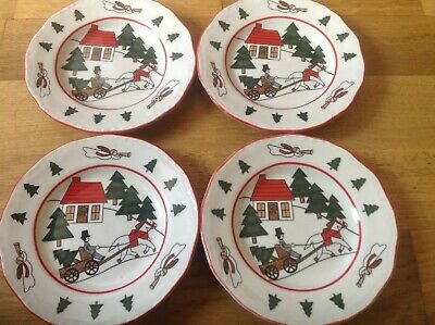 Mason's Christmas Village ( 4 Rimmed Side / Tea Plates 14cm )  • 29.99£