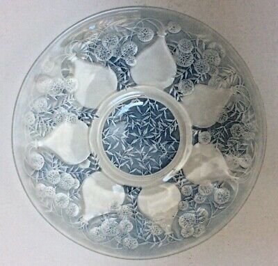 Very,very Rare R.lalique  Vases  Pattern Plate With  Unusual  Early Vda Mark. • 485£