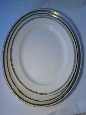 3 X Vintage Very Large Oval Meat Platters - Losol Ware & John Maddock & Sons • 15£