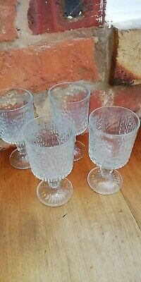 Vintage / Retro Ravenhead Siesta Bark Effect Wine Glasses X 4 • 9.99£