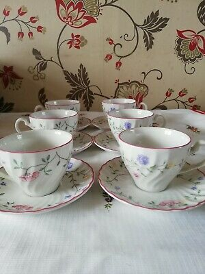 Johnson Brothers Summer Chintz Tea Cups And Saucers • 5.99£