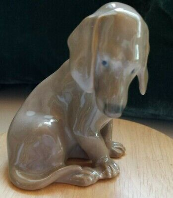 BING & GRONDAHL DACHSHUND PUPPY SITTING 8cm High No: 1755 PERFECT CONDITION • 27.50£