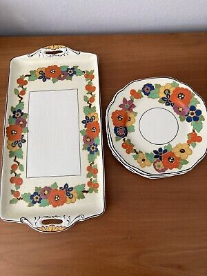 Grindley Windsor Ivory 'Penelope' Vintage Sandwich Tray & 3 Side Plates  • 16.99£