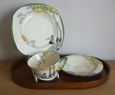 Stylish Burleighware Cup, Saucer And Side In PAN On Zenith: Excellent Condition • 35£