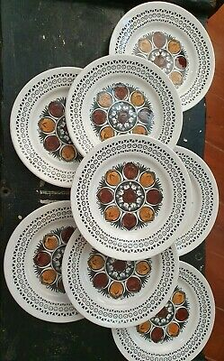 Set Of 4 Kathy Winkle 'October' Side Plates. 70's Broadhurst. Perfect Condition. • 12.50£