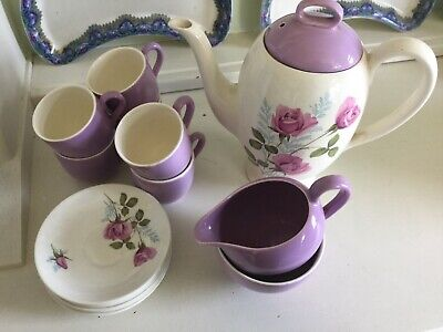 Myott Rose Coffee Set • 28£