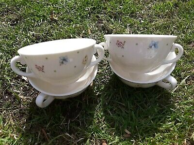 4pc Dudson Fine China Soup Bowls • 2£